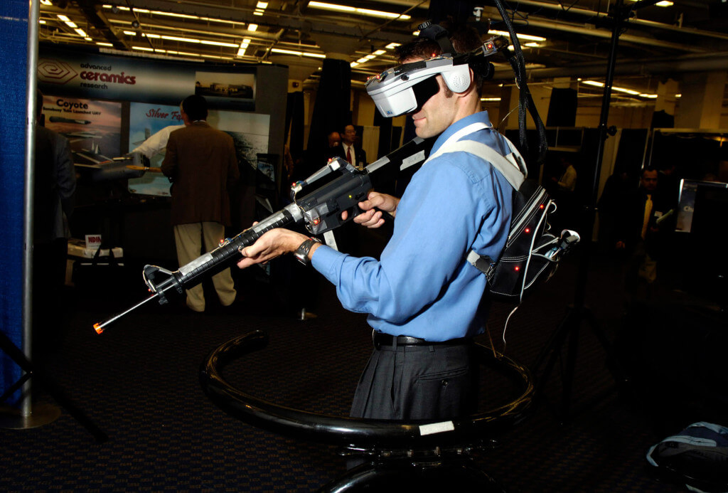 Virtual Reality technology used in the military.