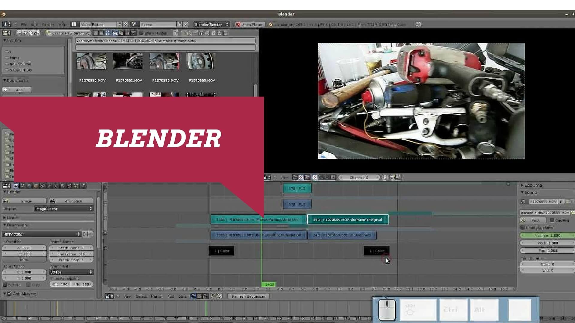 Blender Open Source free intro maker
