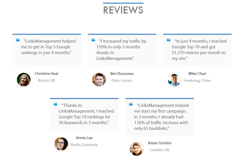 Links Management Reviews