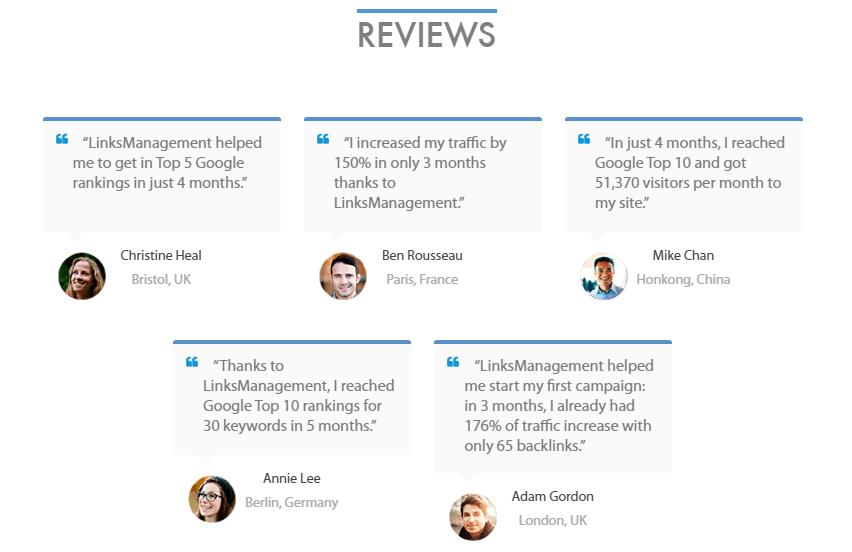 Links Management Reviews