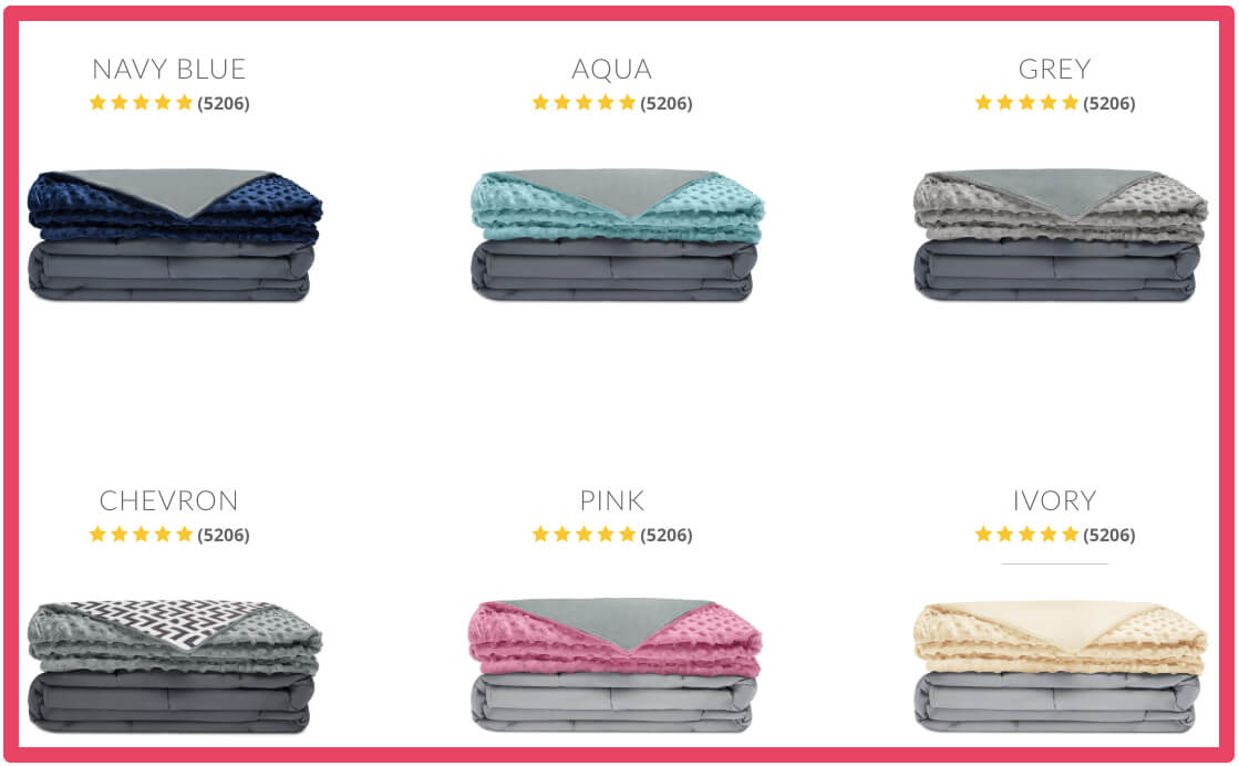 Quility-weighted-blankets-color-options
